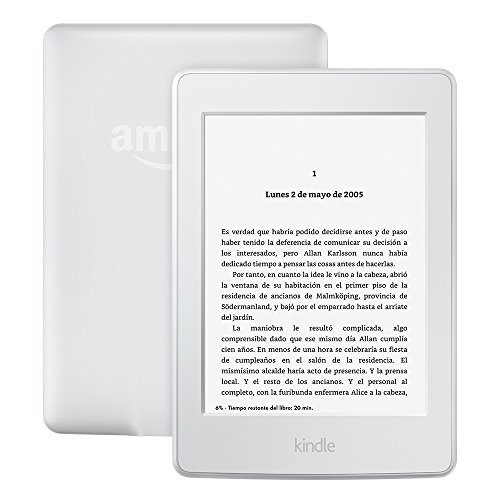 "E-reader Kindle Paperwhite, pantalla de 6"" (15,2 cm) de alta resolución (300 ppp) con luz integrada, wifi (Blanco) - incluye ofertas especiales"