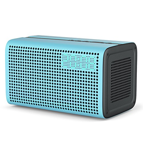GGMM E3 Altavoz inteligente, inalámbrico WiFi+Bluetooth, audio multiroom, sonido estéreo con repetidor wifi, reloj LED y puerto de carga USB para dispositivos de Apple, Android, Airplay / Spotify / iHeartRadio, etc