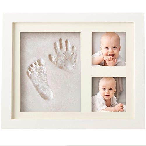 KIT DE MARCO DE HUELLAS DE MANO Y PIE DE BEBÉ para niño y niña, regalos originales y únicos para la fiesta de bienvenida del bebé, decoraciones de pared o mesa con recuerdos memorables